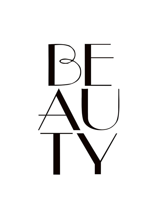 Beauty, Poster / Affiche citation chez Desenio AB (7506)